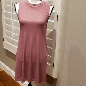 Mauve Mock turtleneck top or dress